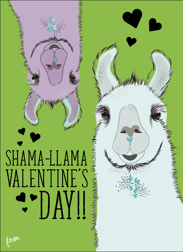 Shama Llama School Valentine