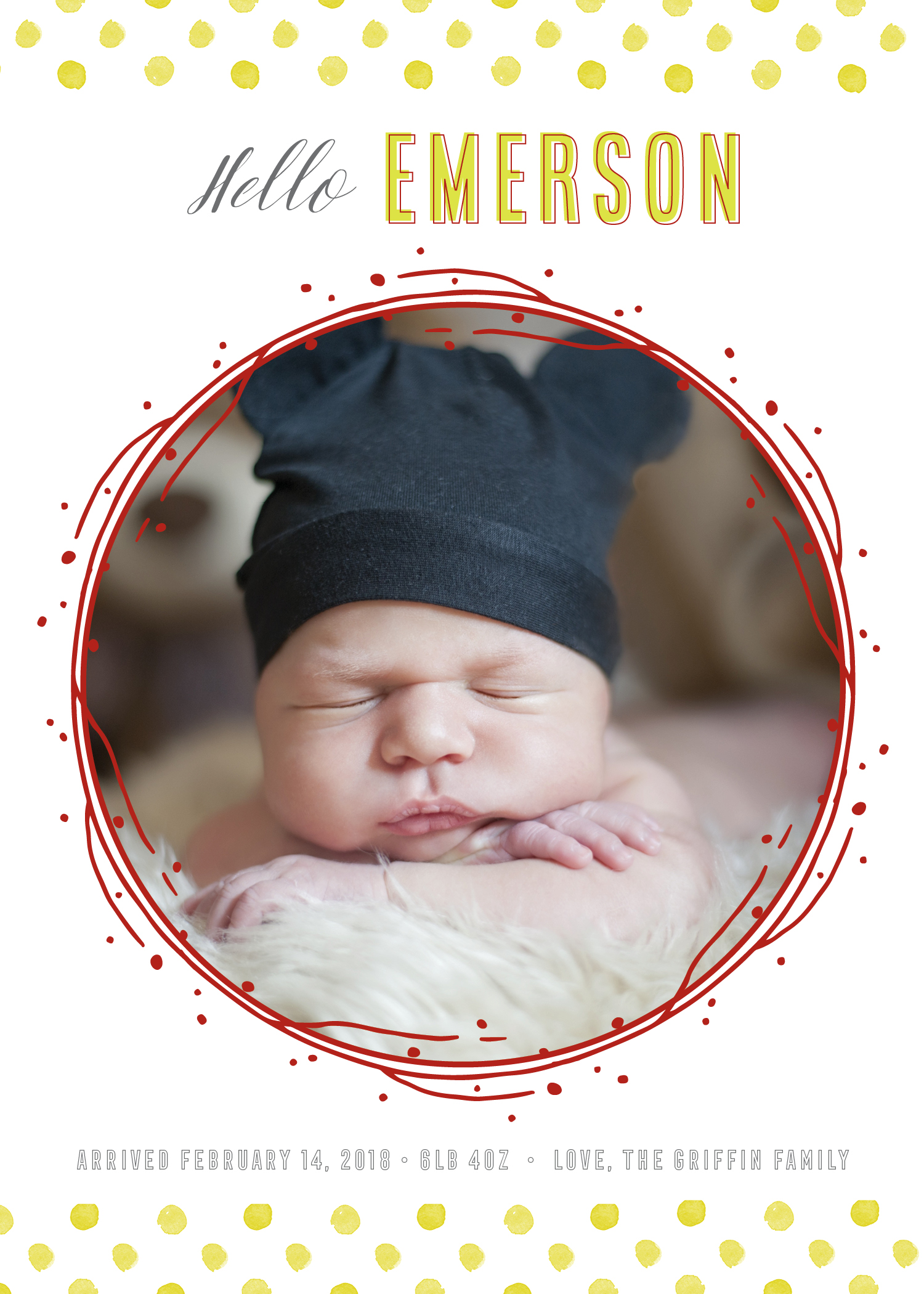 Dots + Twigs Baby Announcement