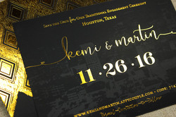 Astoria gold foil Save the Date