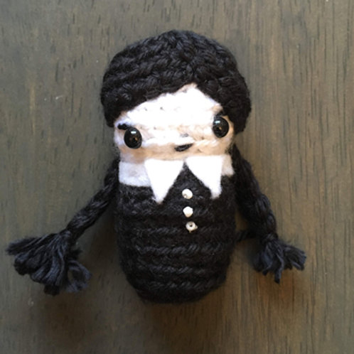 Wednesday Addams Amigurumi Creepy Adorbs