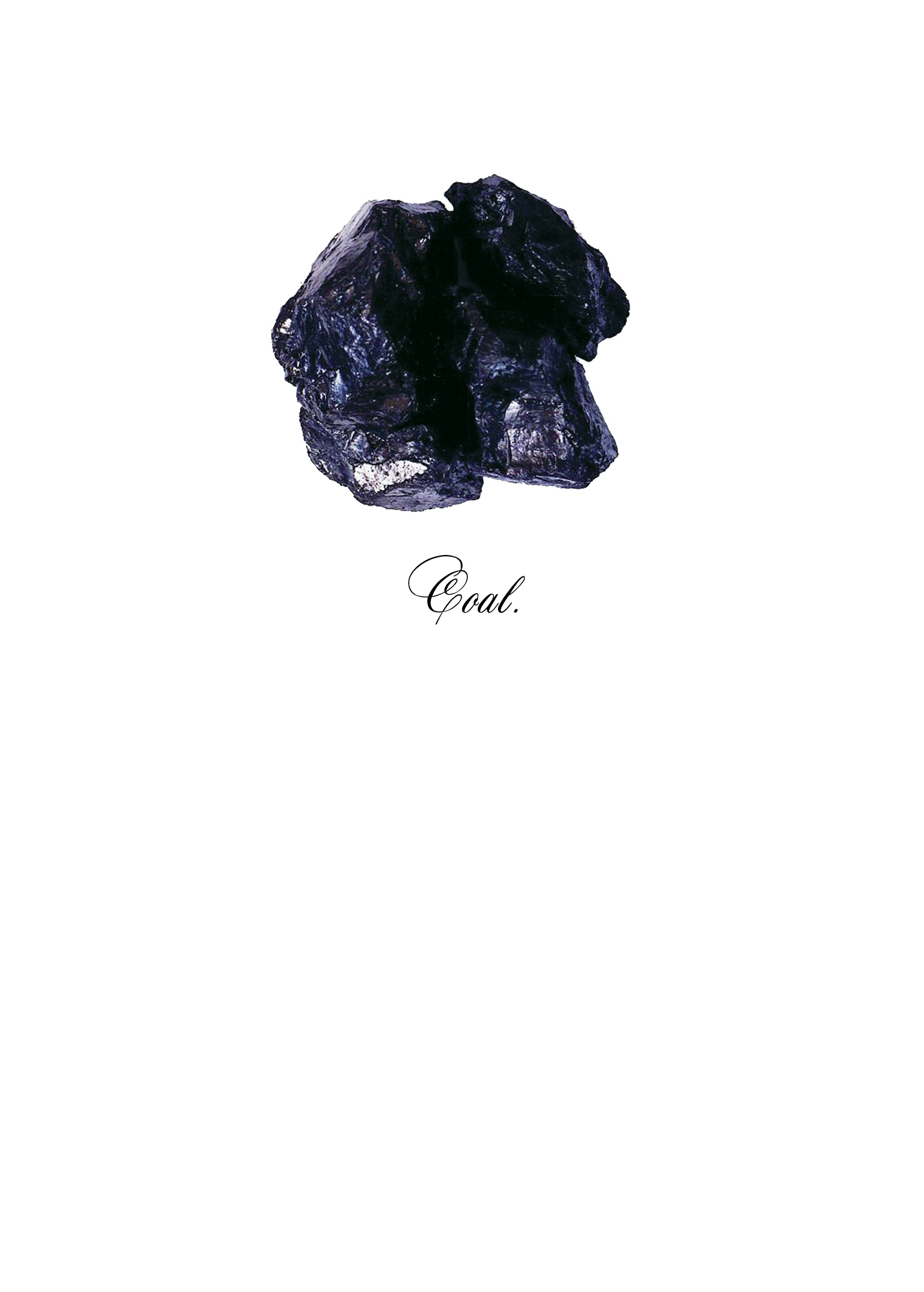 Modern Lump of Coal Christmas Card