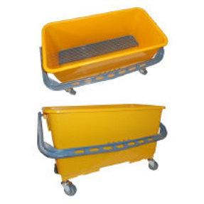 PRI Flat Mop Bucket w/wheels (holds up to 30 flat mop pads)