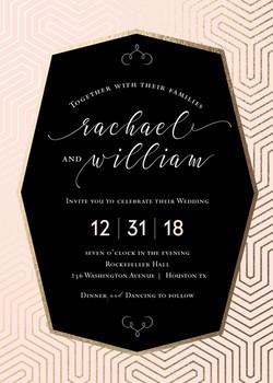Geometric Glam Wedding Invitation