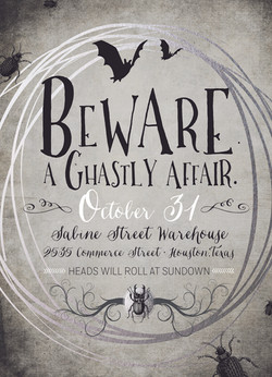 A Ghastly Affair Invitation