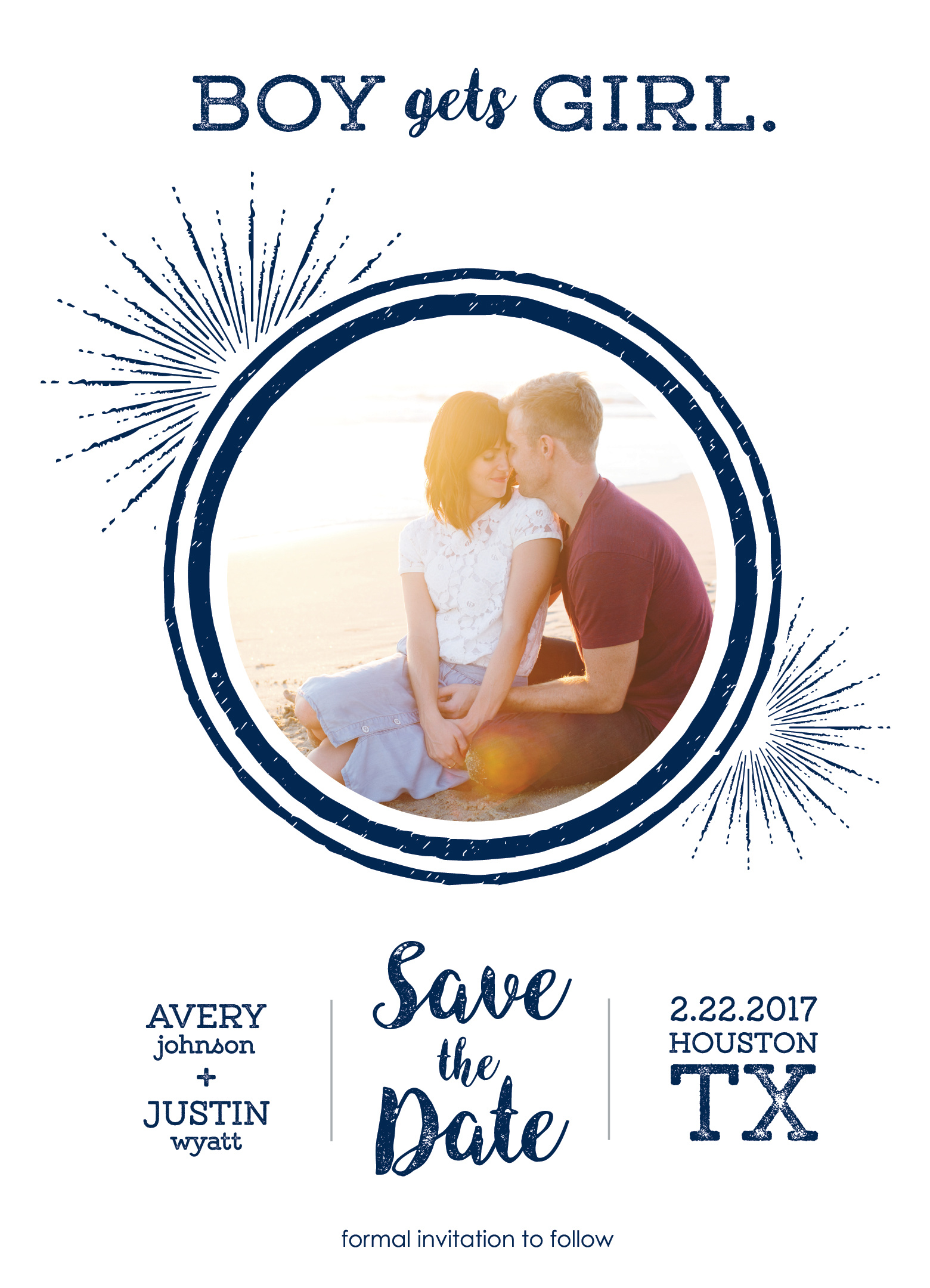 Boy Gets Girl Save the Date