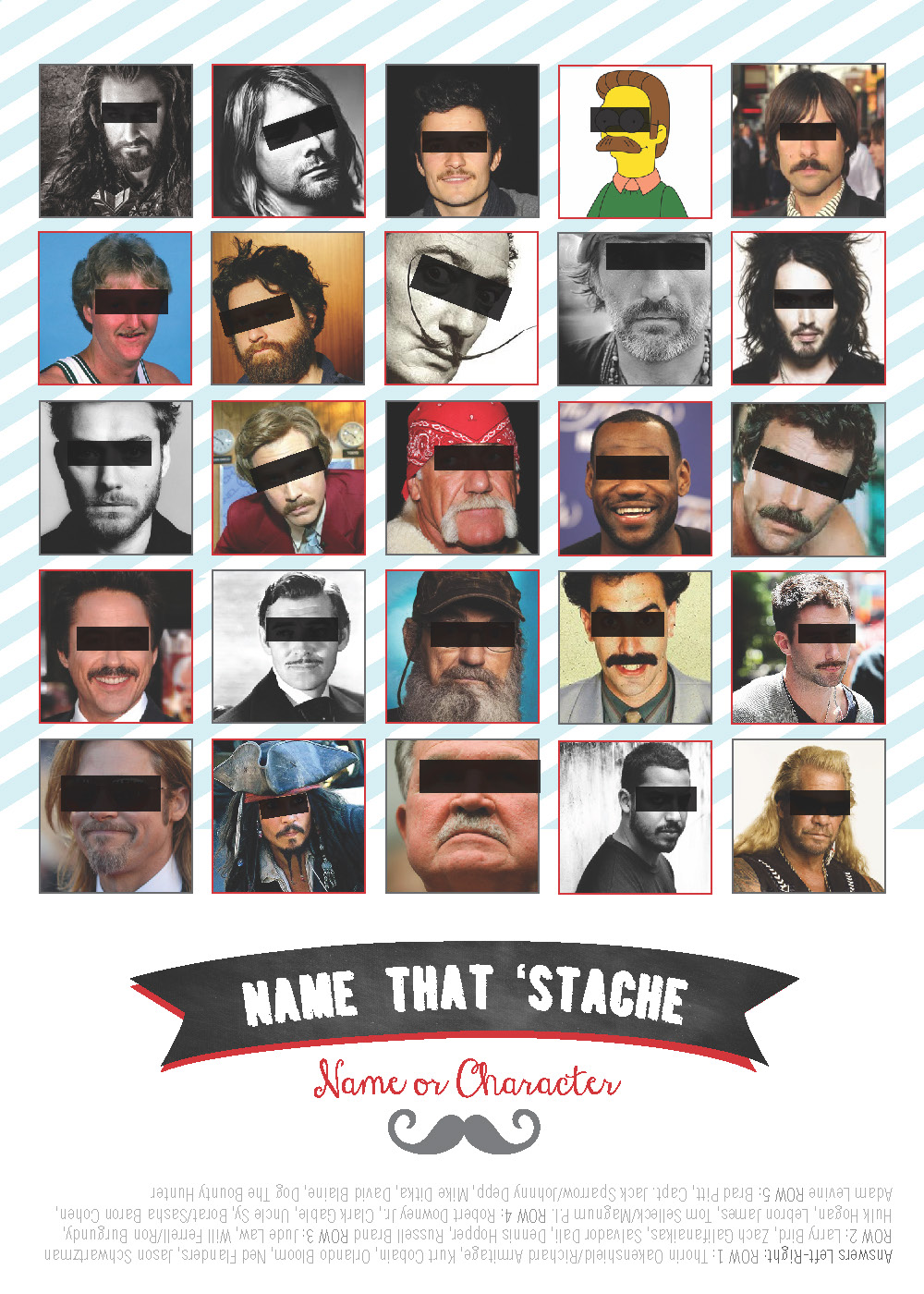 Mustache Party Game