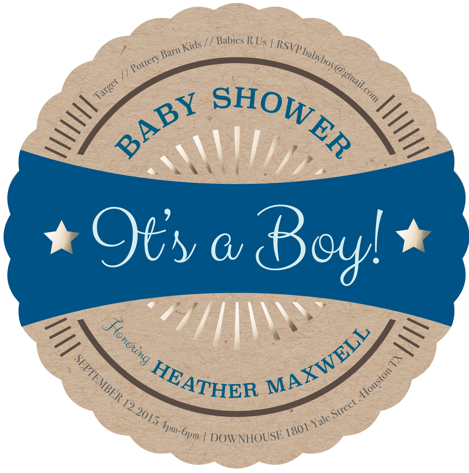 Premium Quality Baby Boy Shower