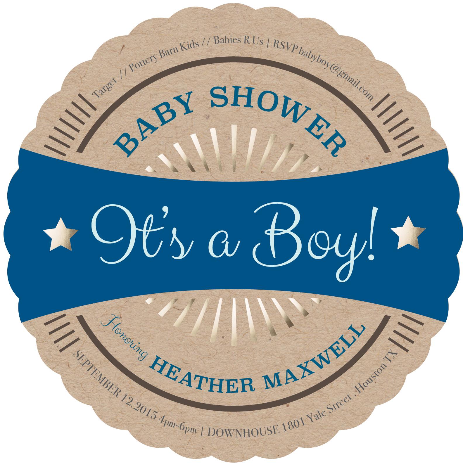 Premium Quality Baby Boy Shower