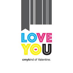 cmyk love Valentine