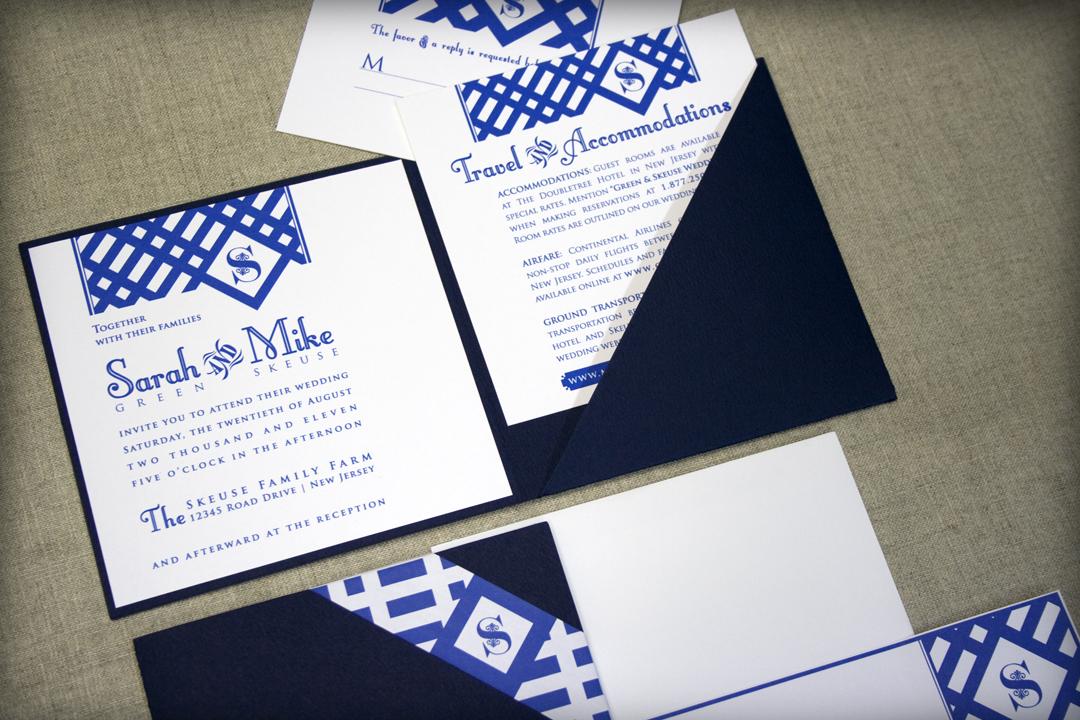 Lattice Pocket Wedding