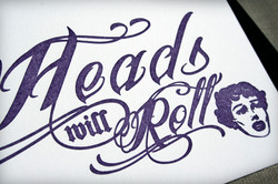 Heads Will Roll Letterpress