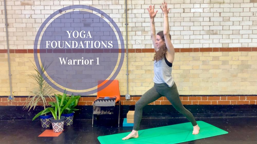 Yoga foundations - warrior 1