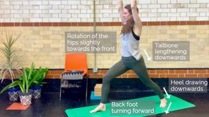 Yoga tutorial - warrior 1