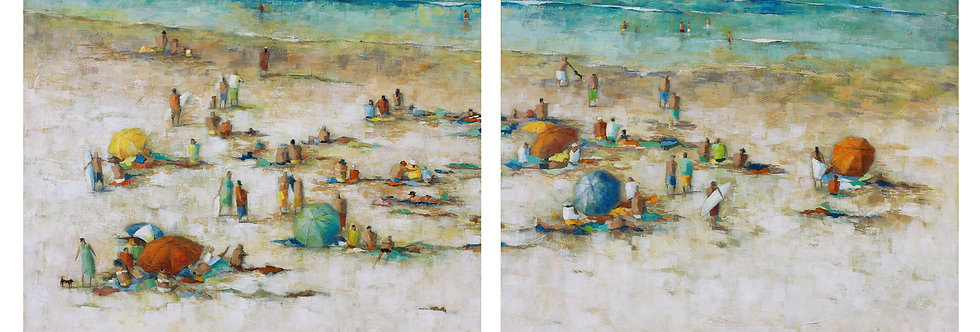 581/582 'NARRABEEN SANDS' DIPTYCH  (2 CANVASES)