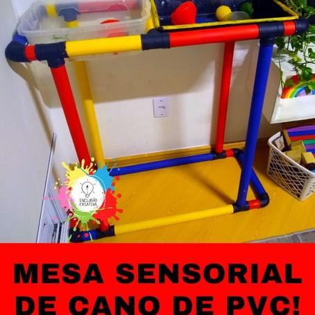 Mesa Sensorial de Cano de PVC!