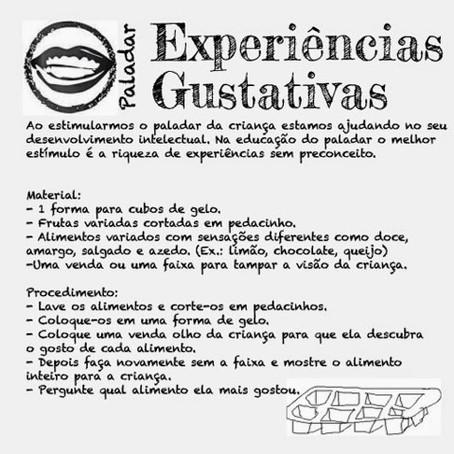Experiências Gustativas!