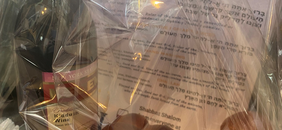 Our new Shul Council have been busy preparing Shabbat parcels for new members and families with new additions.