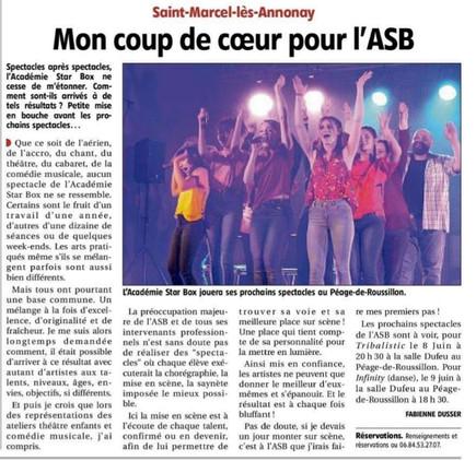Soirée cabaret avec l'Académie Star Box d'Annonay 2019
