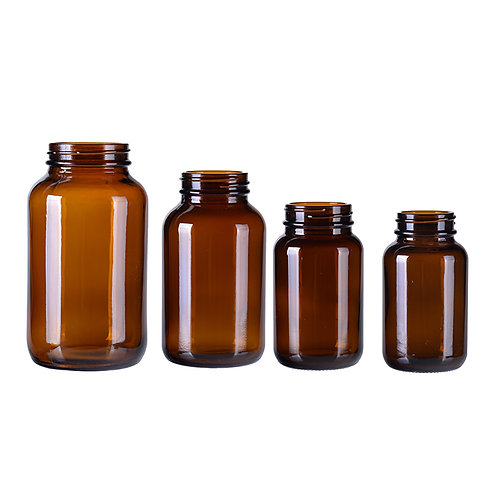 Designer best sell eco-friendly glass amber wide mouth glass bottle