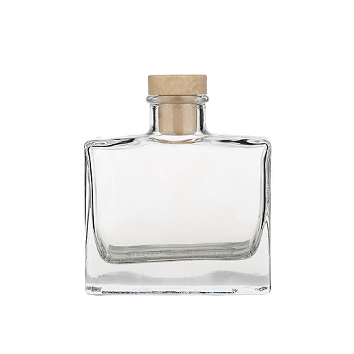 square perfume glass bottles with cork