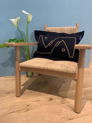 "Rectangular Cushion ""Poisson"": Yellow"