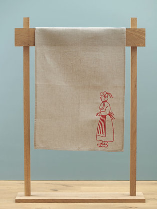 "Embroidered Tea Towel ""Quimperoise"""