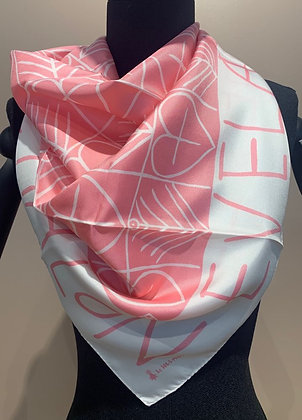 "Scarf ""Plougastel"" (pink and pearl), by Jean Fournier"