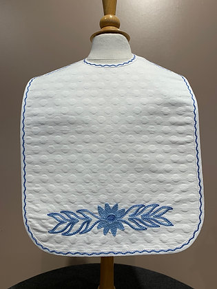 Baby Bib Embroidered with Flower