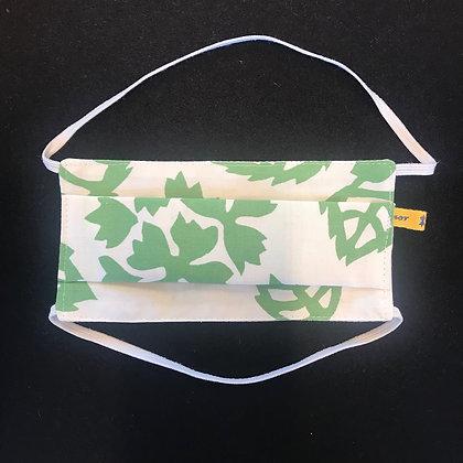 """Masque barrière """"à plis Hortensia Vert"""