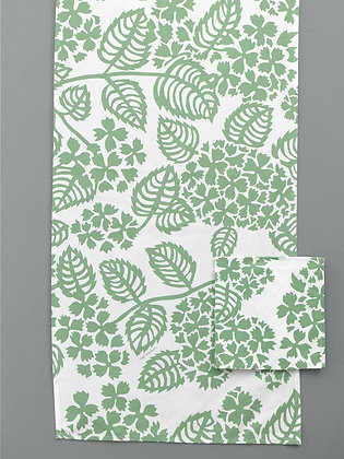 "Table Runner ""Hortensias"": Green"