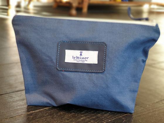 Pochette trapèze - bleu
