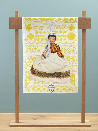 "Tea Towel ""Thumette - Yellow motifs"""