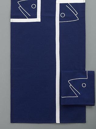 Chemin de Table Concarneau Bleu Marine