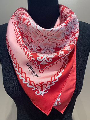 """Scarf """"Penmarc'h"""" (ruby, pink, and pearl)"""