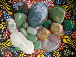 Bowl of crystals