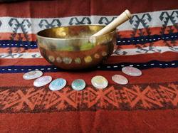 Chakra Crystals with Singing Bowl