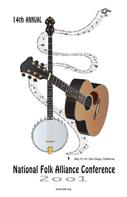 This-land-banjo & guitar poster