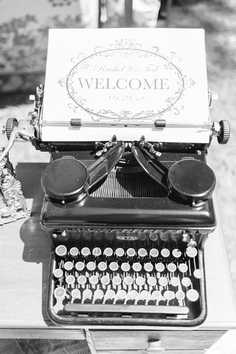 welcome to our wedding type writer