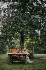 magnolia tree bridal portraits
