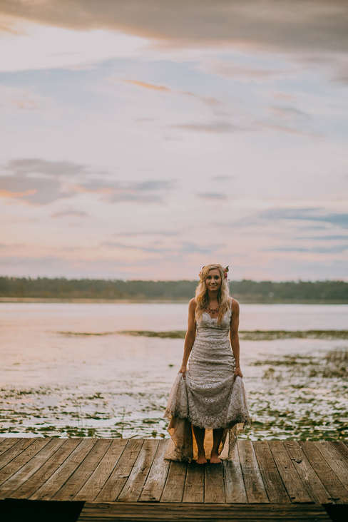 Bridal Dock Wedding Portraits