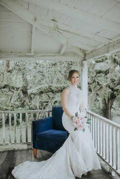 porch bridal portraits