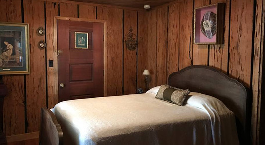 one of five double beds