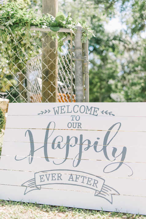 Welcome to our wedding entry way sign