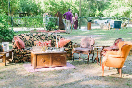 couches, chairs, coffee tables wedding decor