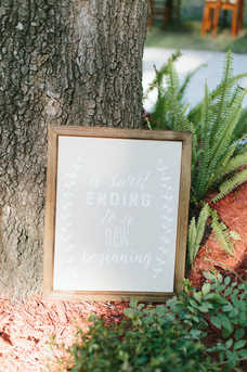 Wedding signs placed throughout the venue for added flare