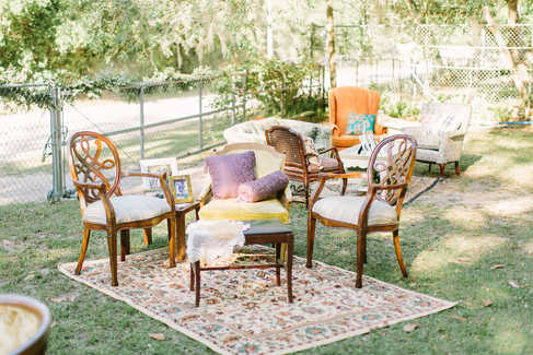 seating areas for wedding venue