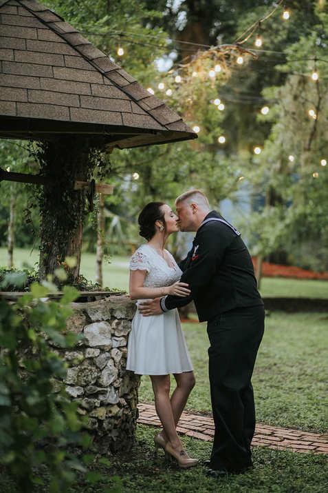 bride and groom wishing well