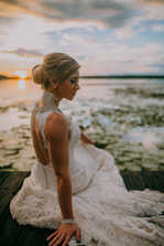 Dock sunset wedding pictures portaits