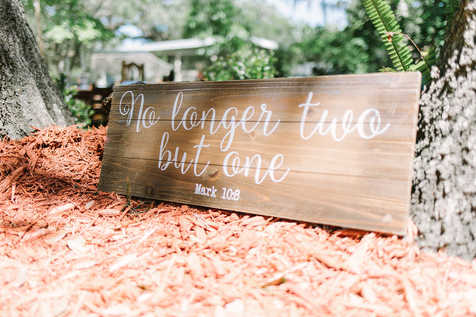 wedding signs, no longer two but one