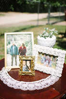 wedding picture frame decor